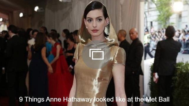 anne hathaway met ball slideshow