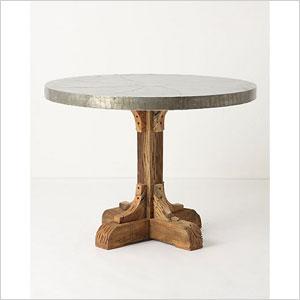 Anthrologie galvanized table