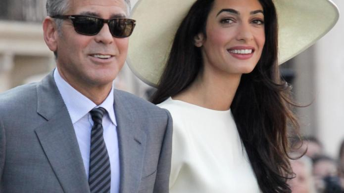 George Clooney and Amal Alamuddin after