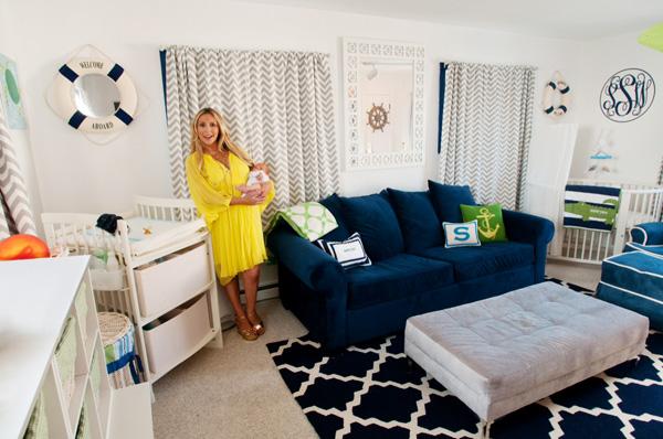 Anya Sarre's nursery for son Sawyer