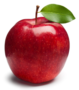 Isolated apple