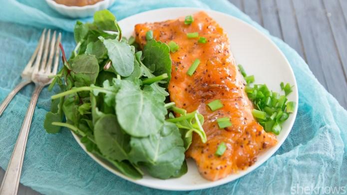 Dijon-apricot glazed salmon in 15 minutes