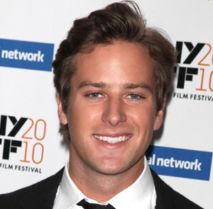 Armie Hammer at the premiere for The Social Network