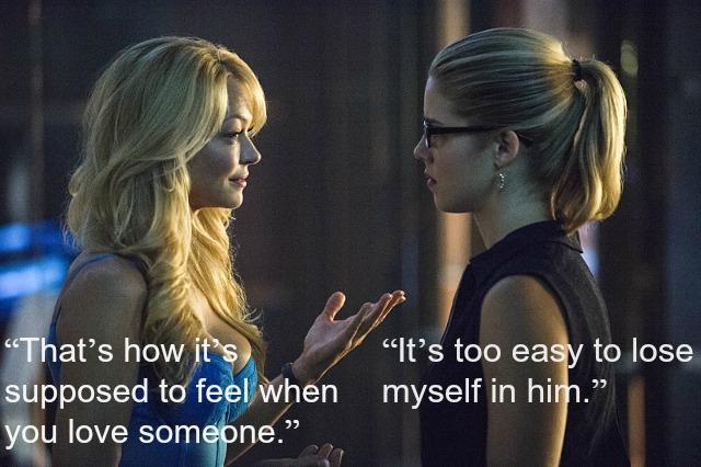 Arrow - Felicity and Donna