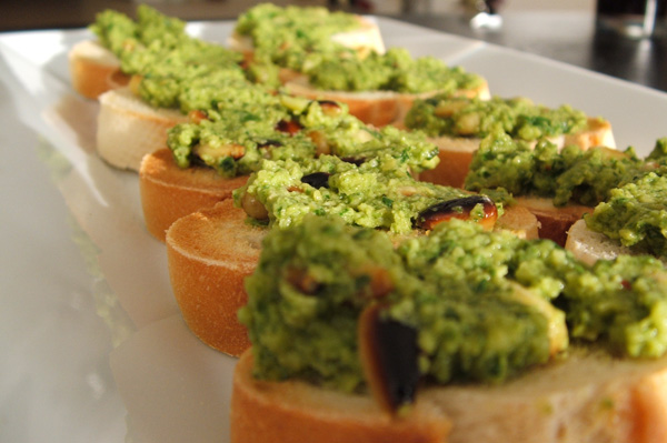 Arugula Pesto Toast