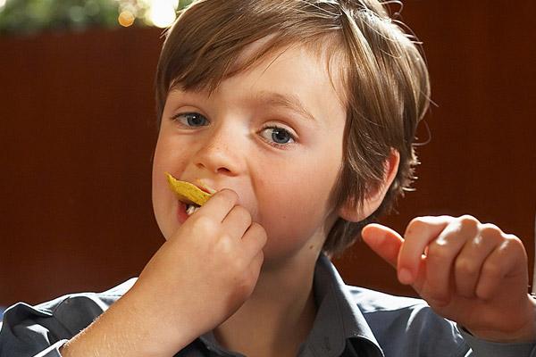 Autistic boy at a restaurant