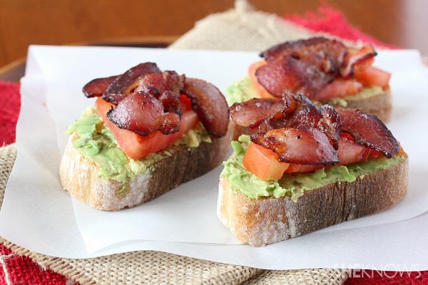 avocado bacon and tomato toast
