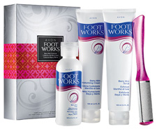Avon Foot Works Berry Mint Collectio