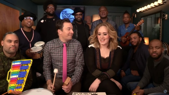 Adele's 'Hello' performance with classroom instruments
