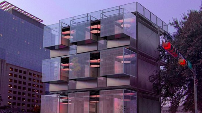 Urban homes inspired by dumpsters are