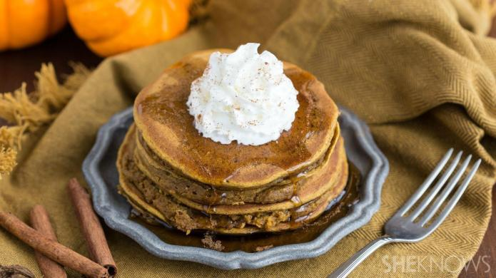 Pumpkin spice pancakes are the best