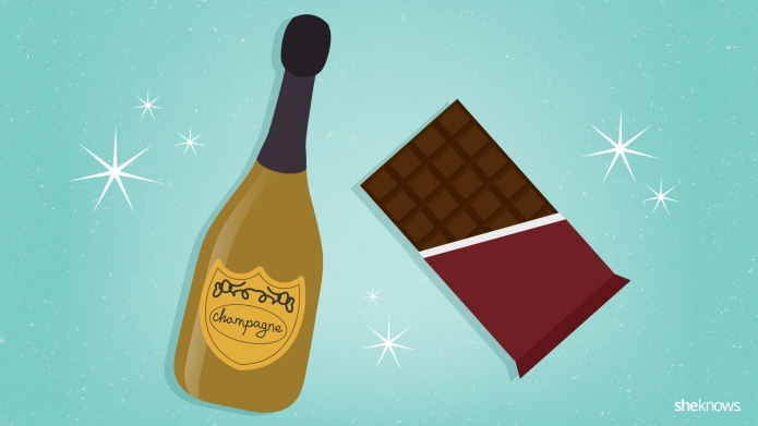 Champagne and chocolate beauty DIYs just