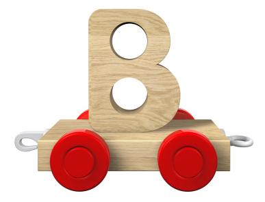 B letter on train | Sheknows.com
