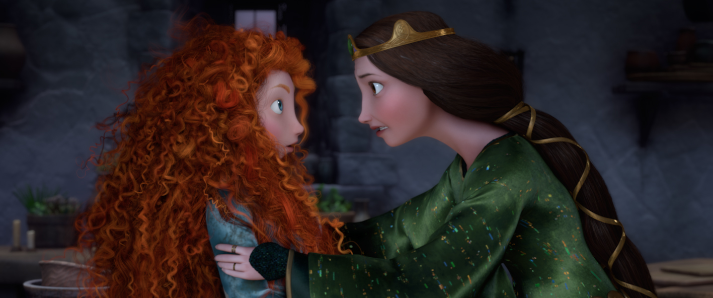 Mother and daughter in Brave