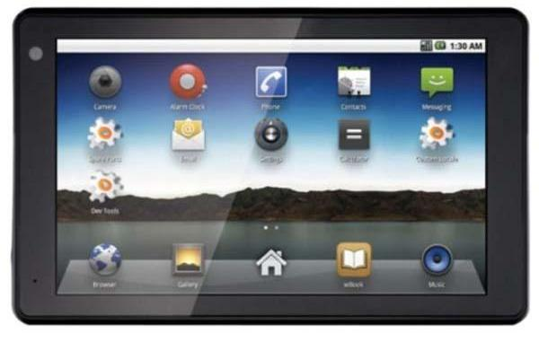 Sylvania Android 2.1 tablet released for