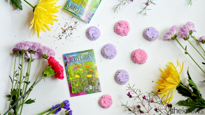 Make your own seed bombs for
