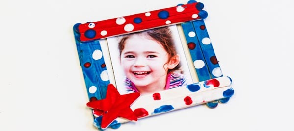 Popsicle-stick picture frame