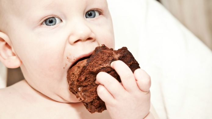 Babies are eating junk food before