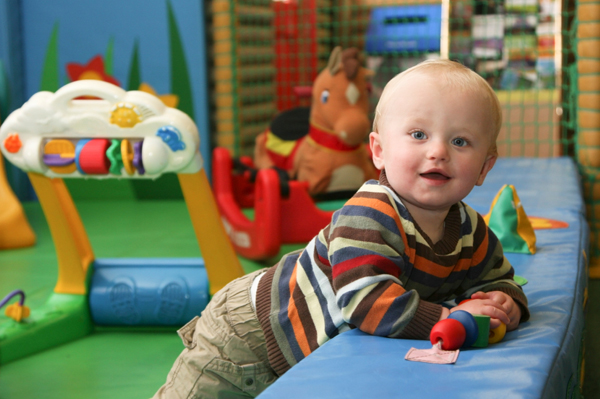 Baby in daycare
