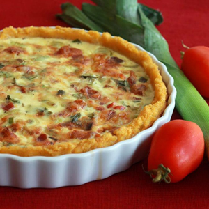 Bacon, leek, roasted tomato quiche | Sheknows.com