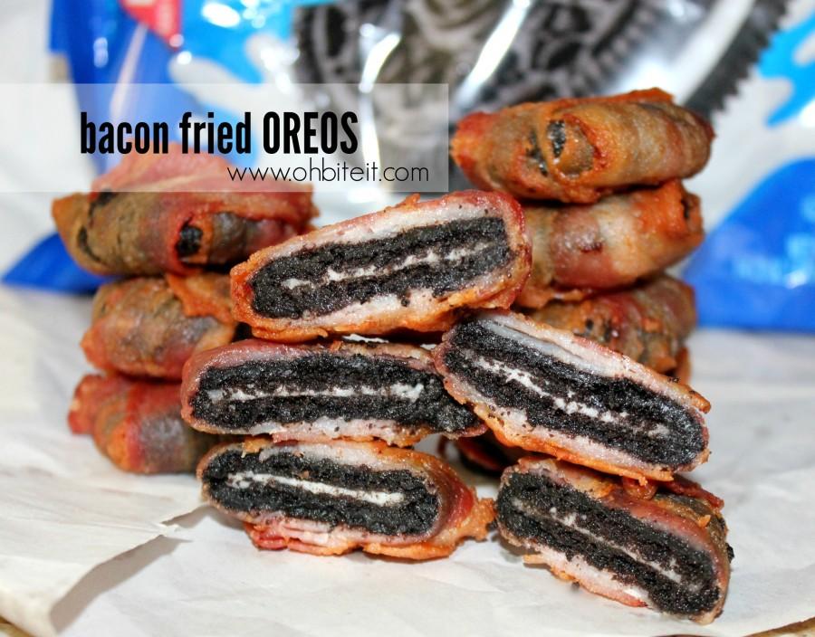 Bacon fried smores oreos