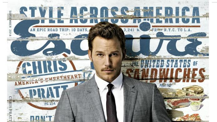 Chris Pratt cleans up well on