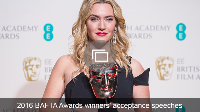 BAFTA 2016 acceptance speeches slideshow