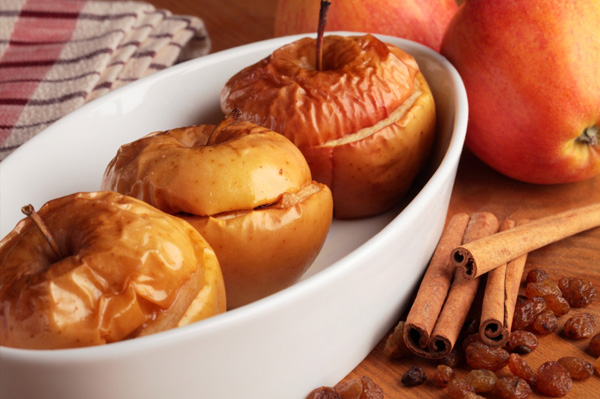 Baked apples for fall