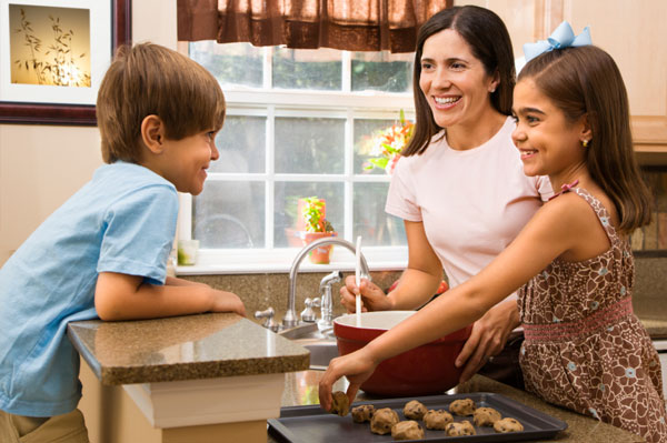 Image result for mother baking cookies for children