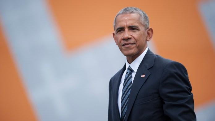 Former President Barack Obama after a