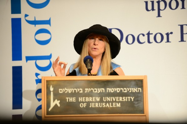 Barbara Streisand stands up for women's rights during speech in Israel