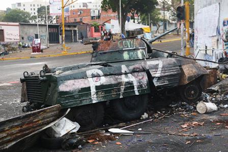 Barricade in venezuela | Sheknows.com