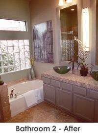 Bathroom 2 after remodel - Work by Steve Price, Legacy Custom Building & Remodeling, Arizona