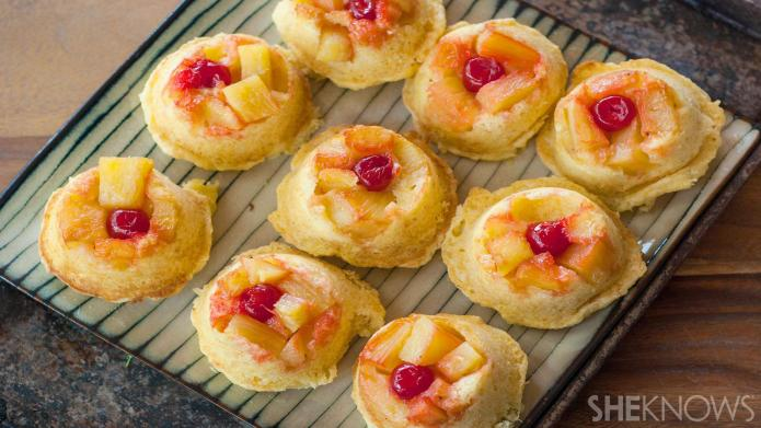 Mini pineapple upside-down cakes are your