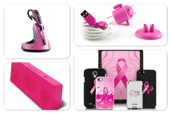 breast cancer awareness shopping guide: Tech products