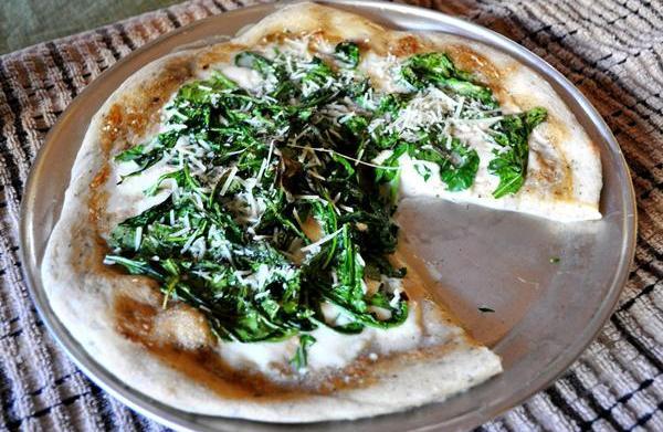 Tonight's Dinner: Garlic cream and arugula