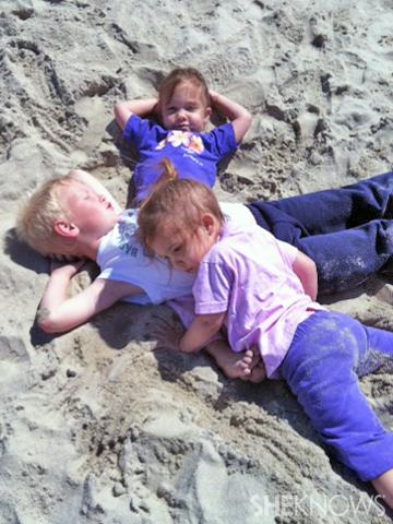 Crawford kids at the beach