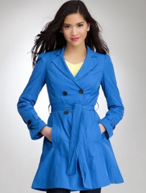 bebe blue trench