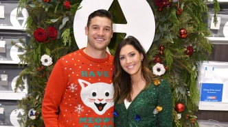 Becca Kufrin and Garrett Yrigoyen celebrate