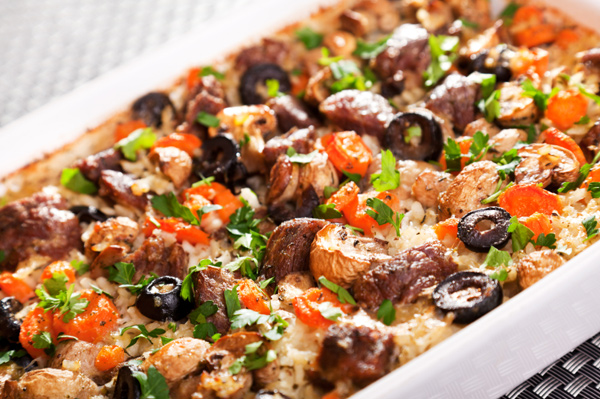 Beef and rice casserole