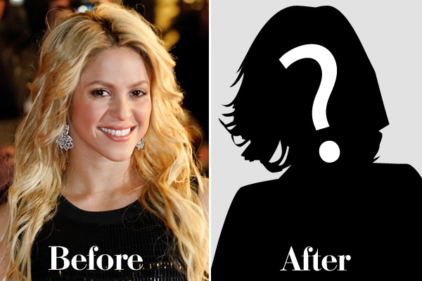 Shakira before and after haircut