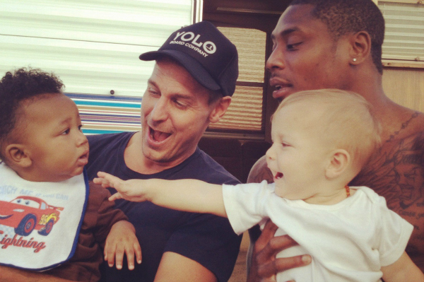 DWTS' Ingo Rademacher and Jacoby Jones with their sons
