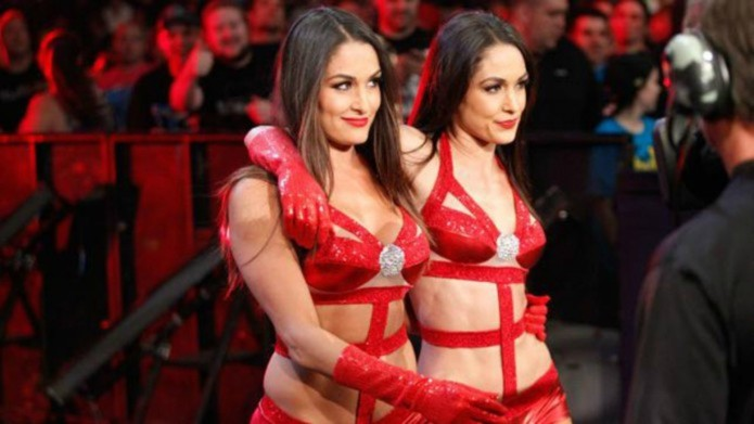 Bella Twins tease their amazing abs