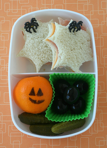 Halloween inspired lunch
