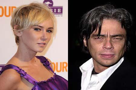 Benicio del Toro and Kimberly Stewart