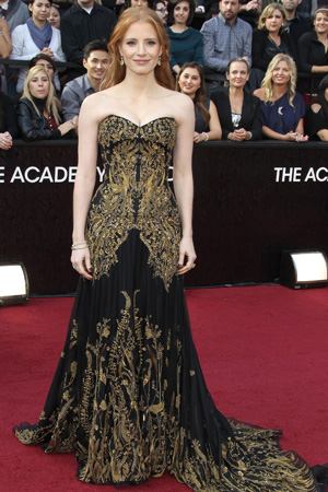 Oscars Best Dressed -- Jessica Chastain