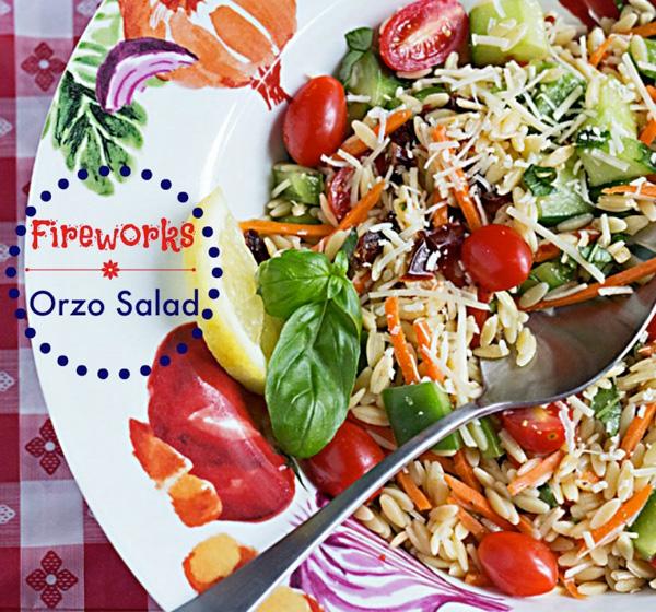 Fireworks orzo salad