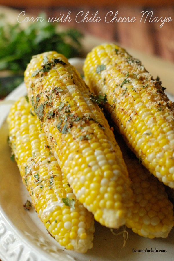 Corn with chile cheese mayo