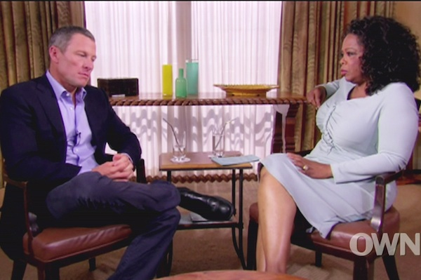 Oprah asks Lance Armstrong about Betsy Andreu.