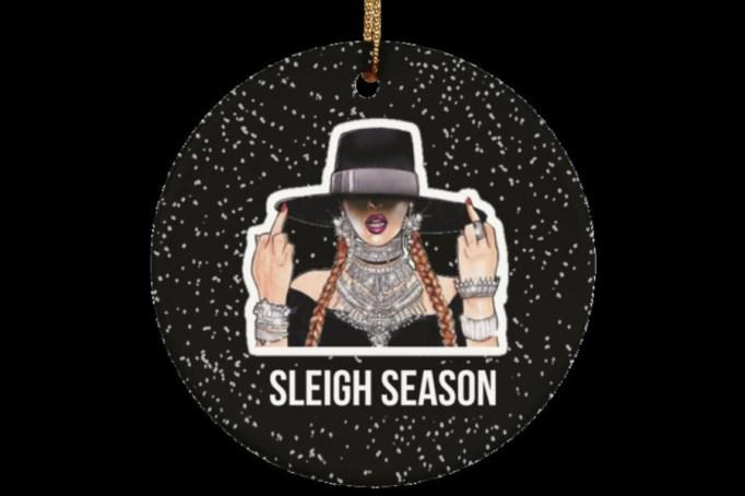 Beyoncé 'Sleigh Season' ornament.